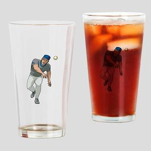 Baseball Player Drinking Glass