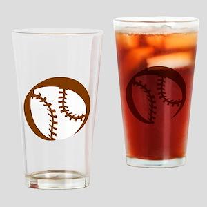 Baseball Drinking Glass
