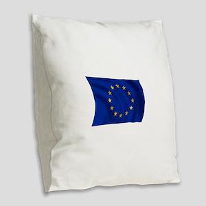 European Union Flag Burlap Throw Pillow