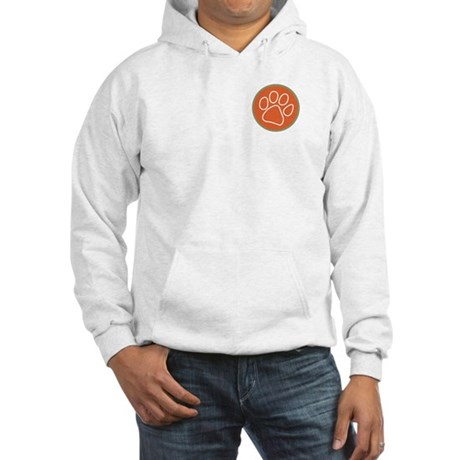Paw print logo Hooded Sweatshirt Front/Back