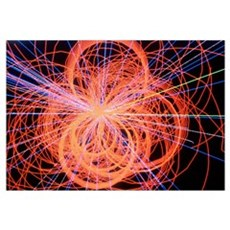 Simulation of Higgs boson production Poster