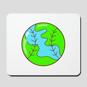 Baseball Earth Mousepad