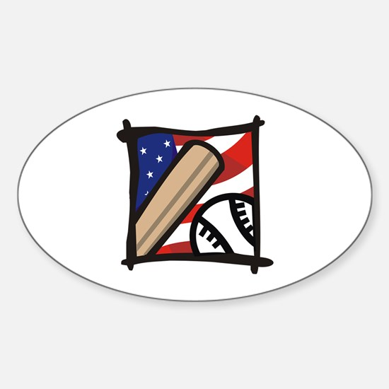 American Baseball Sticker (Oval)