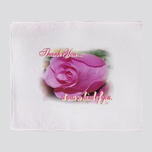 Rose Bud Thank You Throw Blanket