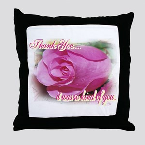 Rose Bud Thank You Throw Pillow