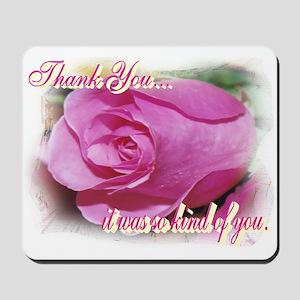 Rose Bud Thank You Mousepad