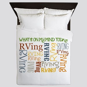 What's On My Mind Today Queen Duvet
