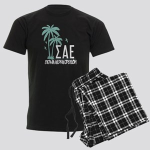 Sigma Alpha Epsilon Palm Trees Men's Dark Pajamas