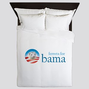 Ferrets for Obama Queen Duvet