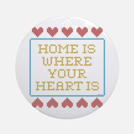 Where Your Heart Is Ornament (Round)