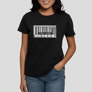 Piney River Citizen Barcode, Women's Dark T-Shirt