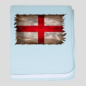 England Flag baby blanket