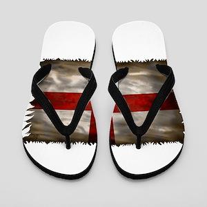 England Flag Flip Flops