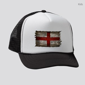 England Flag Kids Trucker hat