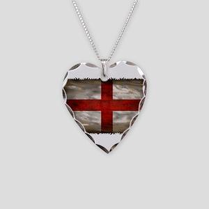 England Flag Necklace Heart Charm
