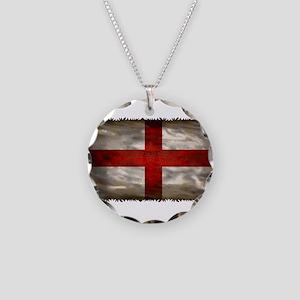 England Flag Necklace Circle Charm