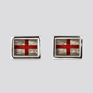 England Flag Rectangular Cufflinks