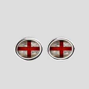 England Flag Oval Cufflinks