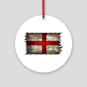 England Flag Round Ornament