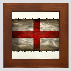 England Flag Framed Tile
