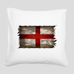 England Flag Square Canvas Pillow