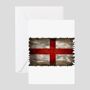 England Flag Greeting Cards