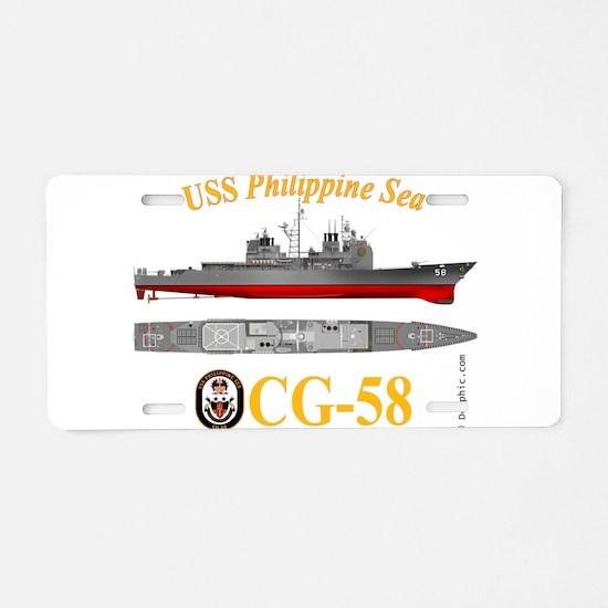USS Philippine Sea CG-58 Aluminum License Plate