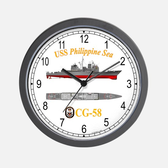 USS Philippine Sea CG-58 Wall Clock