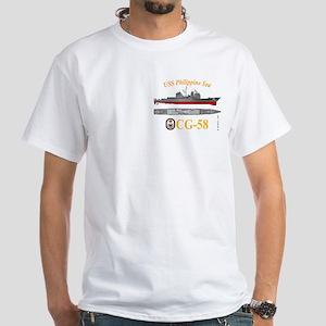 USS Philippine Sea CG-58 White T-Shirt