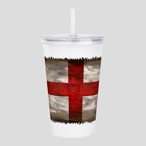 England Flag Acrylic Double-wall Tumbler