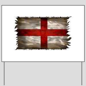 England Flag Yard Sign