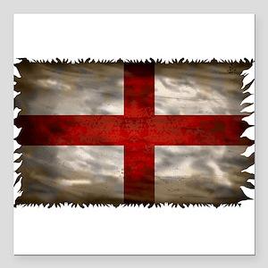 """England Flag Square Car Magnet 3"""" x 3"""""""