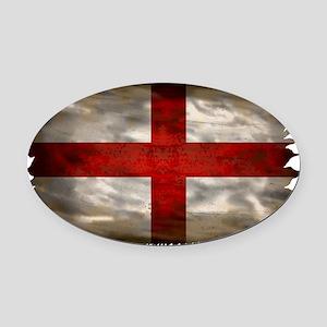 England Flag Oval Car Magnet
