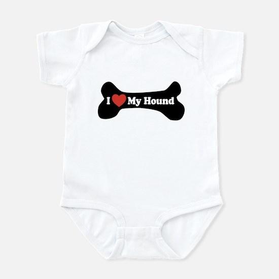 I Love My Hound - Dog Bone Infant Bodysuit