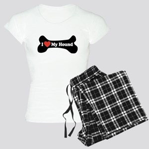 I Love My Hound - Dog Bone Women's Light Pajamas