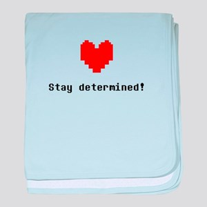Stay Determined - Blk baby blanket
