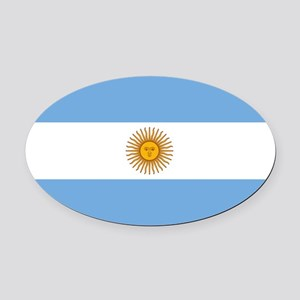 Argentina Oval Car Magnet