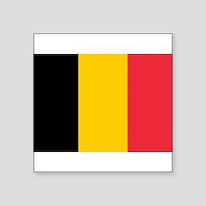 """Belgium Square Sticker 3"""" x 3"""""""