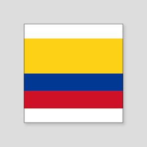 """Colombia Square Sticker 3"""" x 3"""""""