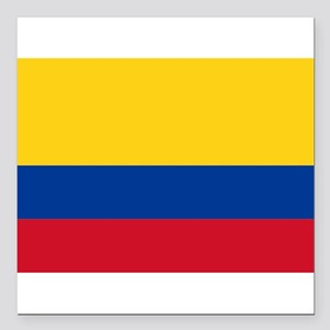 """Colombia Square Car Magnet 3"""" x 3"""""""