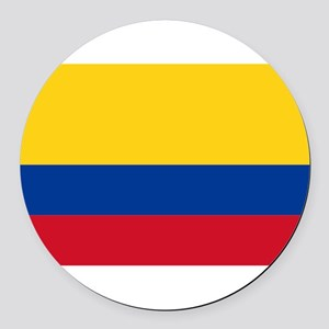 Colombia Round Car Magnet