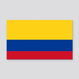 Colombia Rectangle Car Magnet