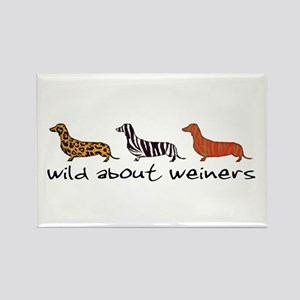 Wild About Weiners Rectangle Magnet