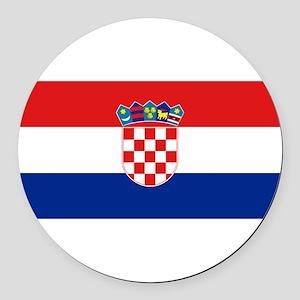 Croatia Round Car Magnet