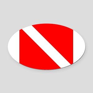 Diver.jpg Oval Car Magnet