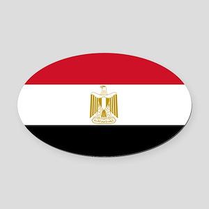 Egypt Oval Car Magnet