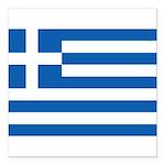 Greece Square Car Magnet 3