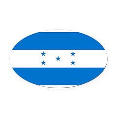 Honduras.jpg Oval Car Magnet