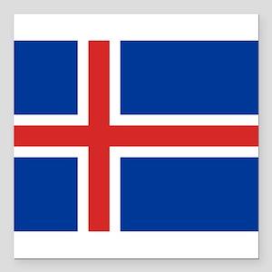 "Iceland Square Car Magnet 3"" x 3"""