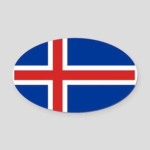 Iceland Oval Car Magnet